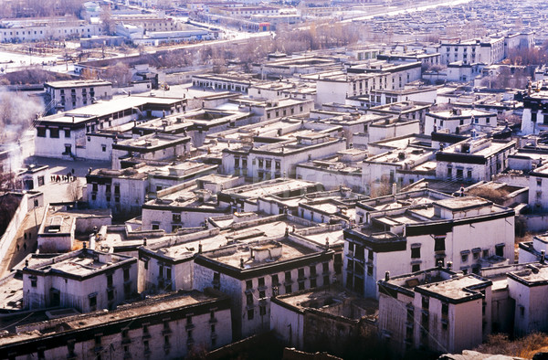 Ville une villes tibet urbaine asian Photo stock © THP