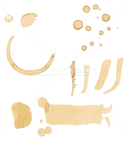 Coffee Stains Vector Stock photo © THP