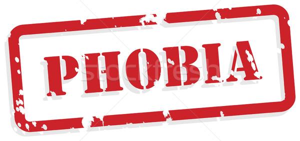 Phobie rouge vecteur santé mentale tampon Photo stock © THP
