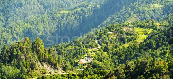 Stockfoto: Guatemala · landschap · landelijk · dorp · hoogland · hemel