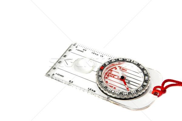 Bússola isolado clássico orientação branco fundo Foto stock © THP