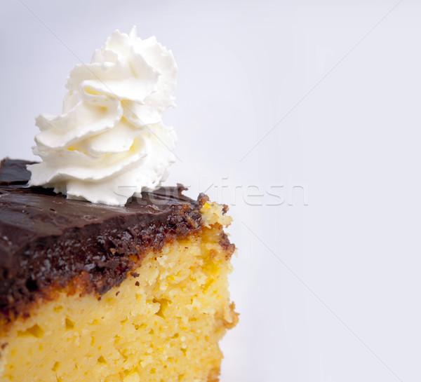Bolo creme laranja chocolate glacê chantilly Foto stock © THP