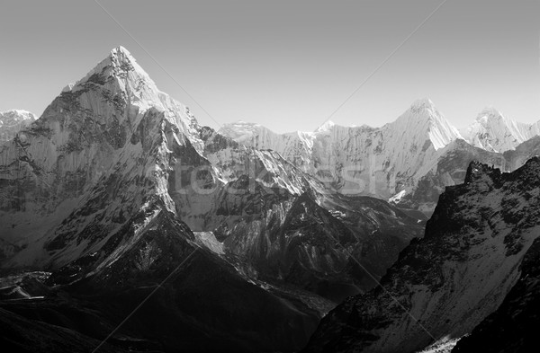 Himalaia montanhas preto e branco espetacular montanha cenário Foto stock © THP