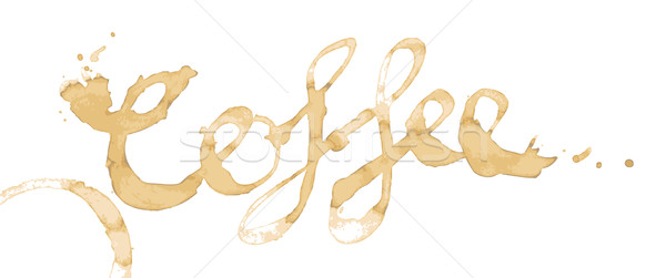 Coffee Stain Text Vector Stock photo © THP