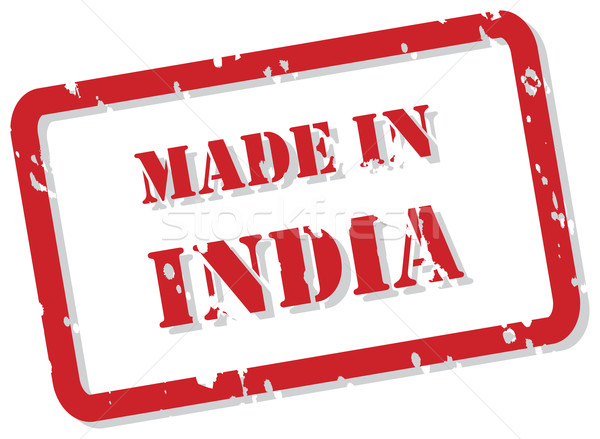 Indië stempel Rood vector ontwerp Stockfoto © THP