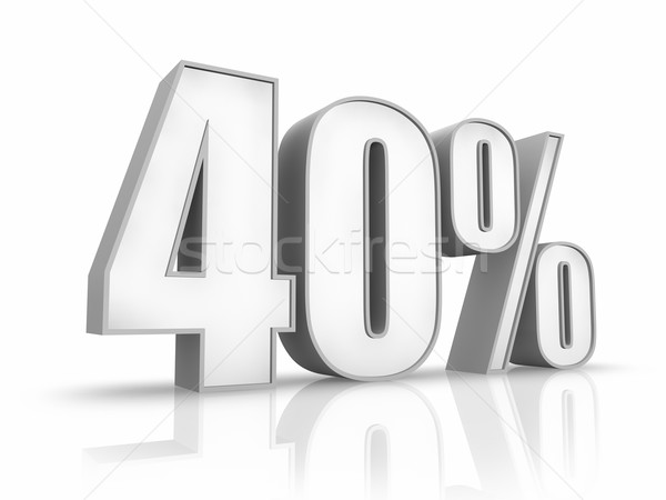 Stock photo: White Forty Percent