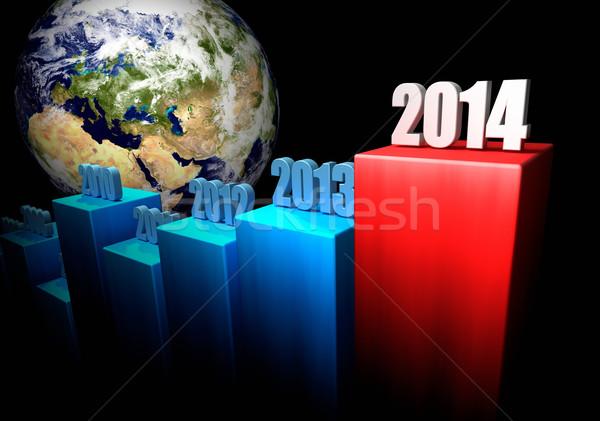 Działalności 2014 Europie asia wykres globalny Zdjęcia stock © ThreeArt