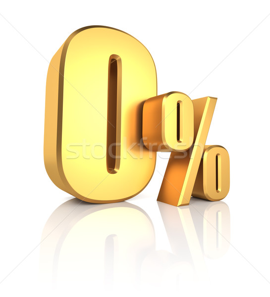 Gold 0 Percent Stock photo © ThreeArt
