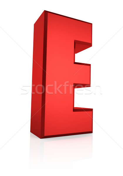 3d Letter E Stock photo © ThreeArt