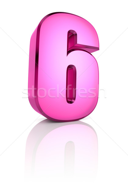 Pink Number 6 Stock photo © ThreeArt
