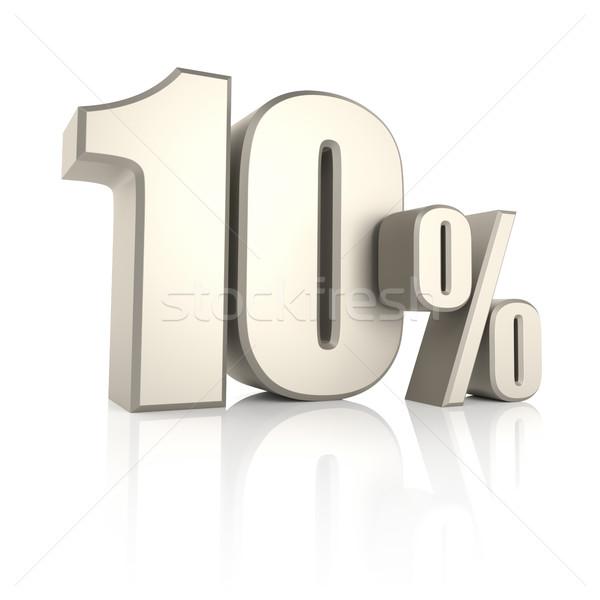 10 por cento isolado branco 3d render fundo Foto stock © ThreeArt