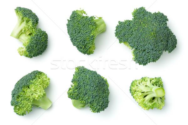 Brokkoli izolált fehér felső kilátás zöld Stock fotó © ThreeArt