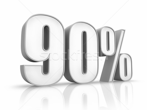 Stock photo: White Ninety Percent