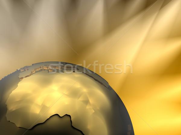 Gold Globe Close-up, Africa Stock photo © ThreeArt
