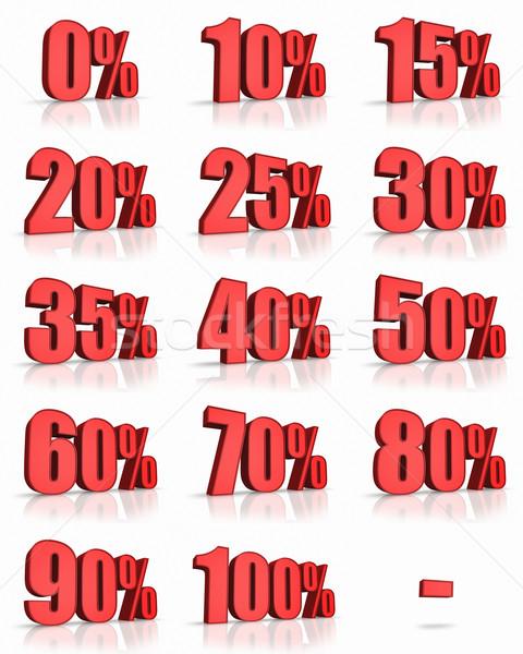 Kırmızı yüzde ayarlamak satış Stok fotoğraf © ThreeArt