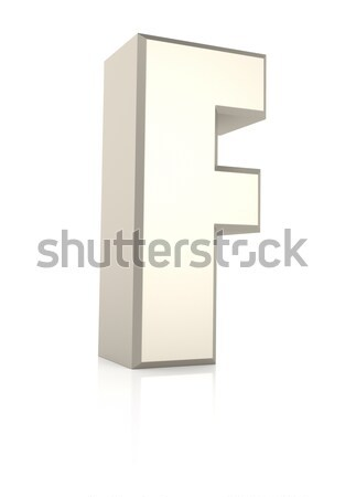 Letter F Isolated on White Background Stock photo © ThreeArt