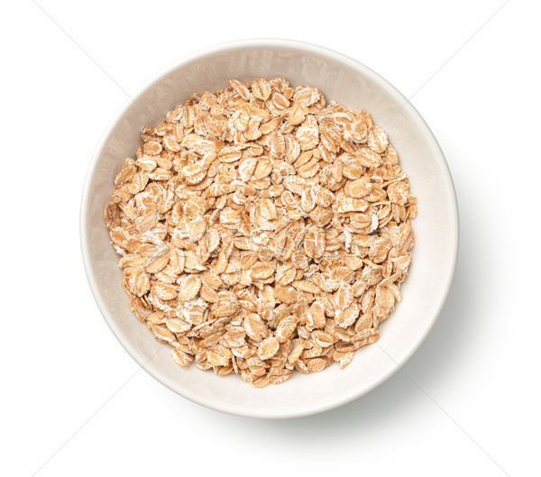 Oat Rye Flakes in Bowl Isolated on White Background Stock photo © ThreeArt