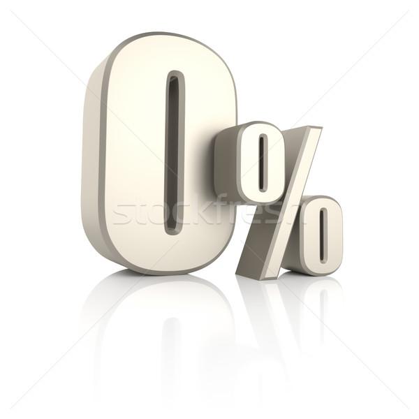 Por cento isolado branco 3d render fundo venda Foto stock © ThreeArt
