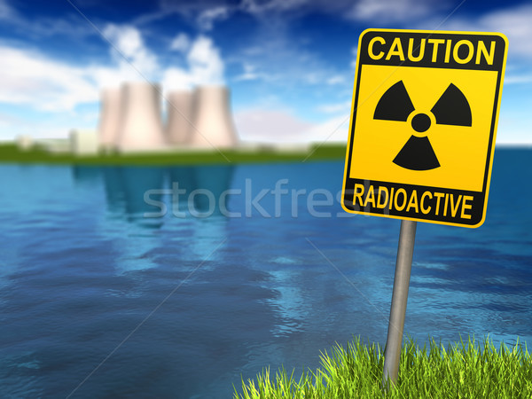 Radioactivity Sign And Nuclear Power Plant Stock photo © ThreeArt