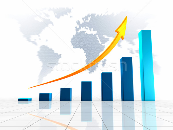 World Business 3D Graph Stock photo © ThreeArt
