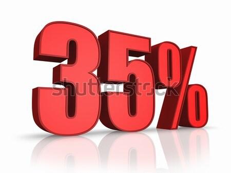 Rood dertig procent geïsoleerd witte 30 Stockfoto © ThreeArt