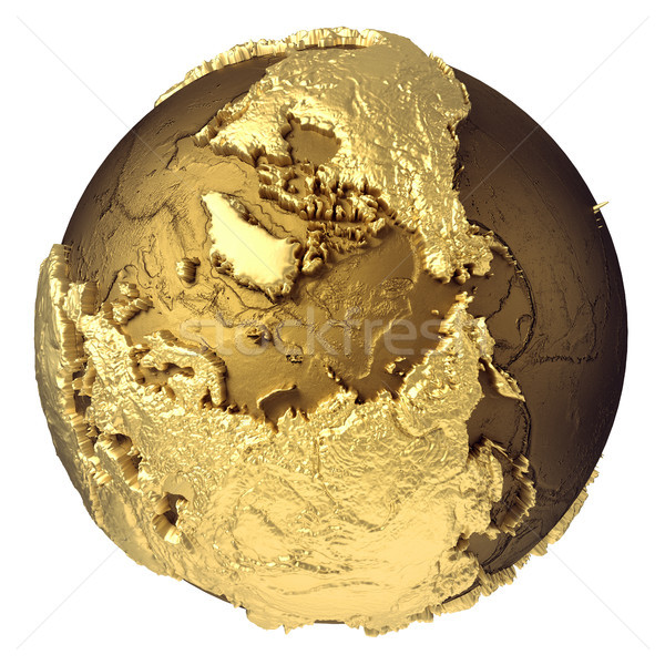 Gold Globe North Pole