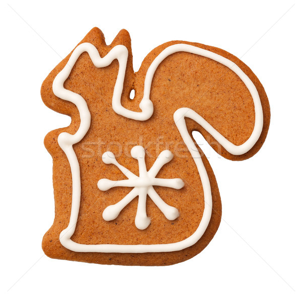 Gingerbread Squirrel Cookie Isolated on White Background Stock photo © ThreeArt
