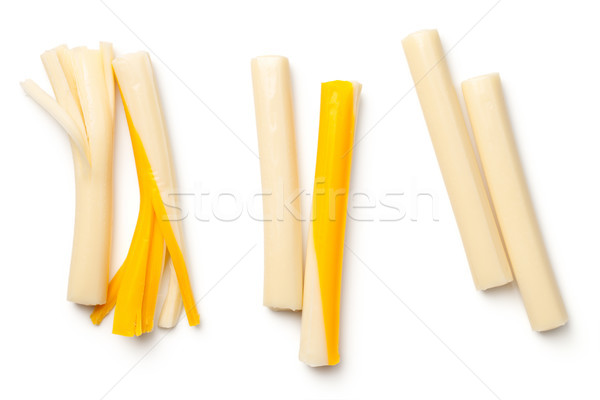 String Cheese Isolated on White Background Stock photo © ThreeArt