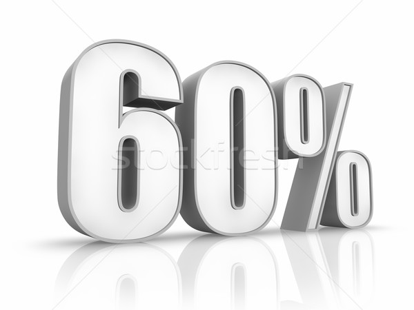 Stock photo: White Sixty Percent