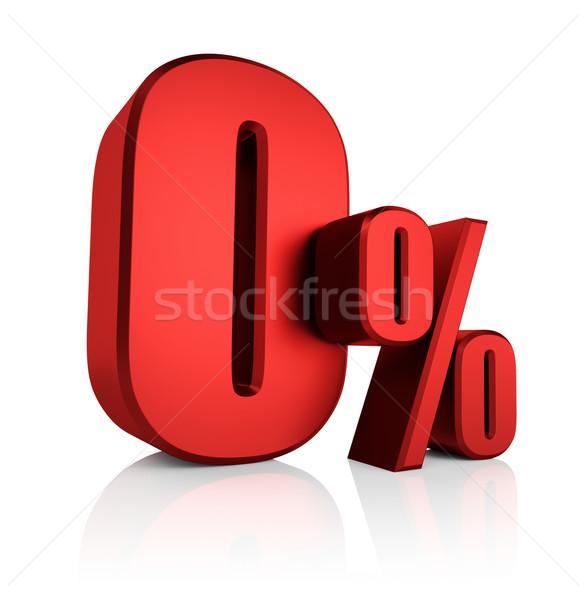 Red 0 Percent Stock photo © ThreeArt