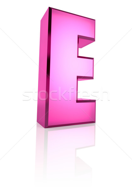 Pink Letter E Stock photo © ThreeArt