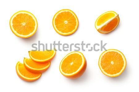 Stock fotó: Narancs · izolált · fehér · felső · kilátás · háttér