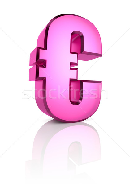 Pink Euro Currency Symbol Stock photo © ThreeArt