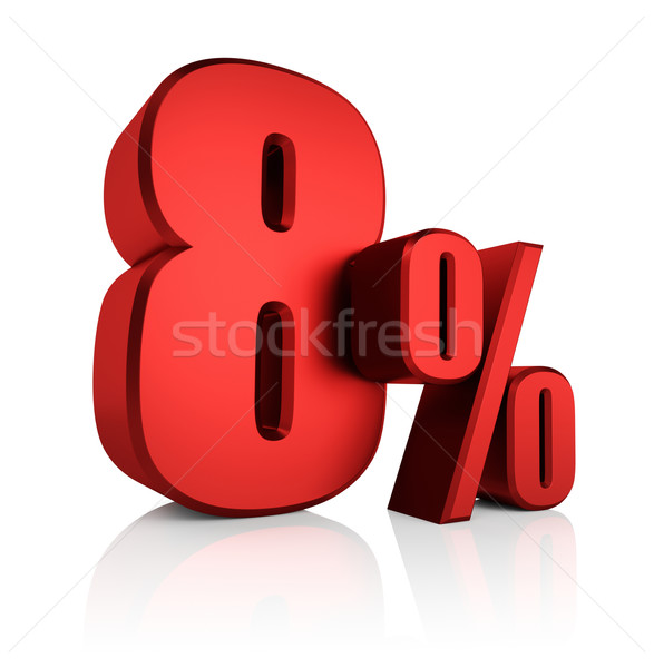 Stock photo: Red 8 Percent