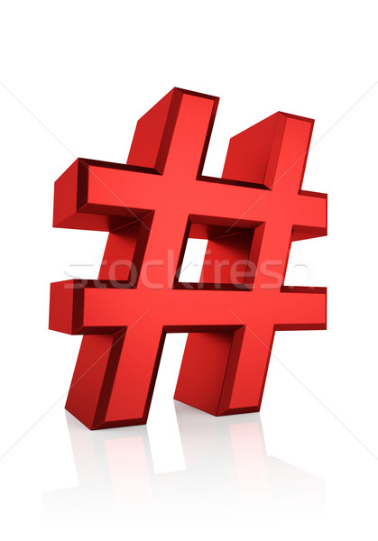 3D Red Hash Sign Stock photo © ThreeArt