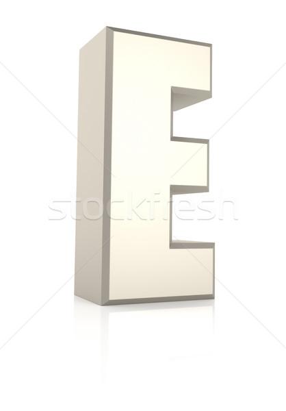 Geïsoleerd witte 3d render school achtergrond Stockfoto © ThreeArt
