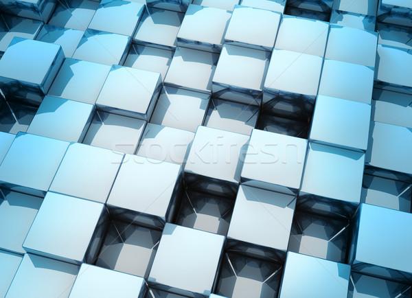 3D cubos pequeño metálico moderna resumen Foto stock © ThreeArt