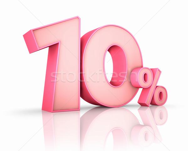 Pink Ten Percent Stock photo © ThreeArt