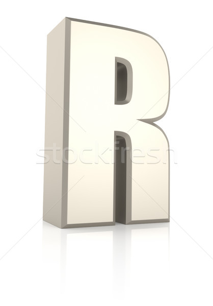Letter R Isolated on White Background Stock photo © ThreeArt