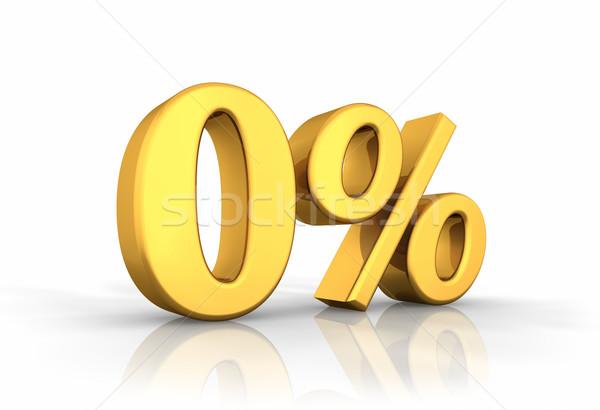 Gold Zero Percent Stock photo © ThreeArt