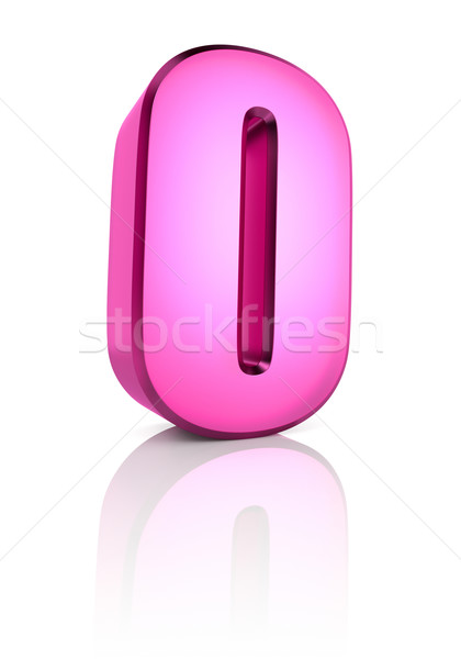 Pink Letter O Stock photo © ThreeArt