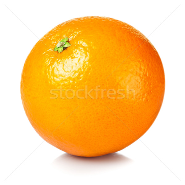 Rijp vers oranje geïsoleerd witte voedsel Stockfoto © ThreeArt