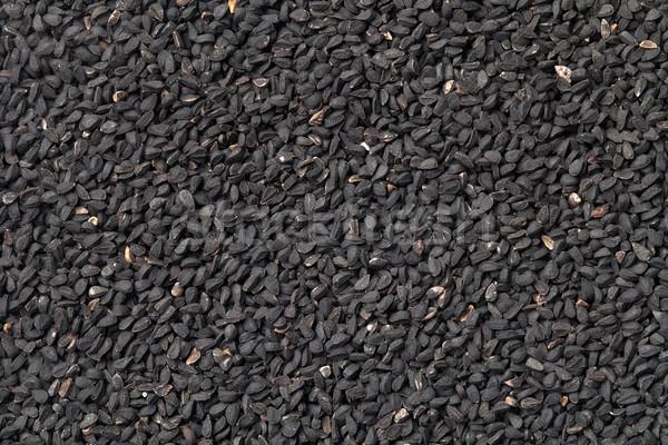 Zwarte komijn zaden textuur top Stockfoto © ThreeArt