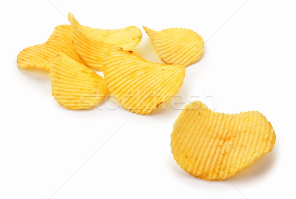 картофельные чипсы белый еды быстро диета Сток-фото © ThreeArt
