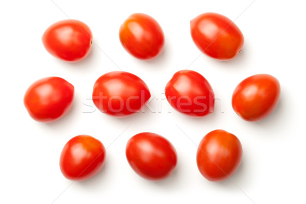 Pepper Cherry Tomatoes Isolated on White Background Stock photo © ThreeArt