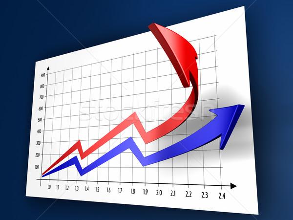 üzlet táblázatok kettő valóság 3D absztrakt Stock fotó © ThreeArt