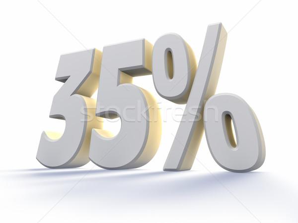 Dertig vijf procent groot witte aantal Stockfoto © ThreeArt