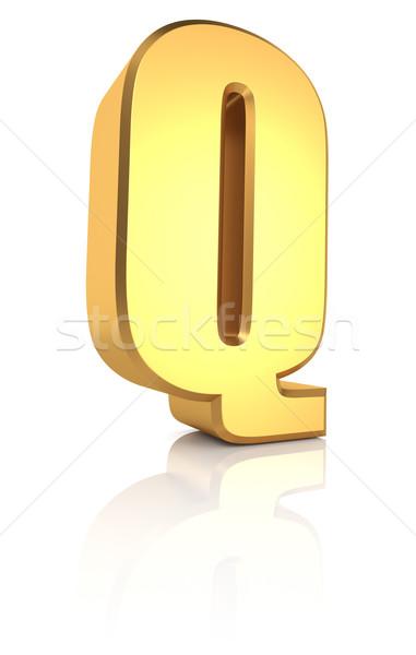 3D carta ouro metal Foto stock © ThreeArt