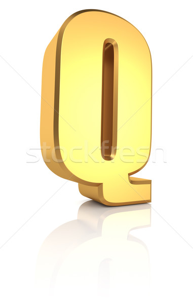 3d Letter Q Stock photo © ThreeArt