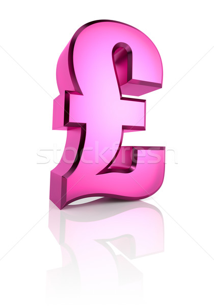 Pink Pound Currency Symbol Stock photo © ThreeArt